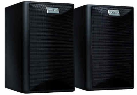quadral maxi 330 2 wege regallautsprecher paar 100 150 watt schwarz bei. Black Bedroom Furniture Sets. Home Design Ideas