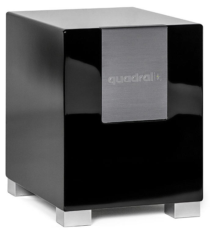 quadral qube 10 aktiver subwoofer schwarz pianolack neu. Black Bedroom Furniture Sets. Home Design Ideas