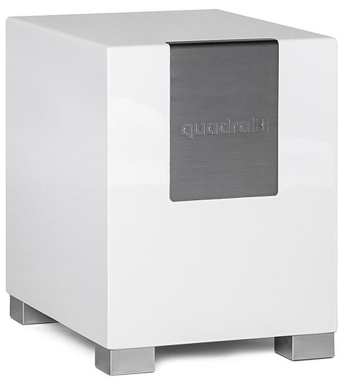 quadral qube 10 aktiver subwoofer wei pianolack neu ebay. Black Bedroom Furniture Sets. Home Design Ideas